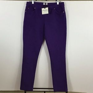 Pajama Jeans Skinny Jeggings Purple Size L